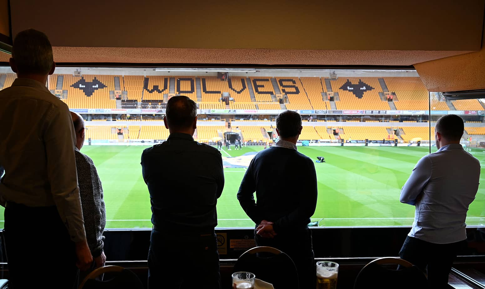 View from the Steve Bull Executive Boxes