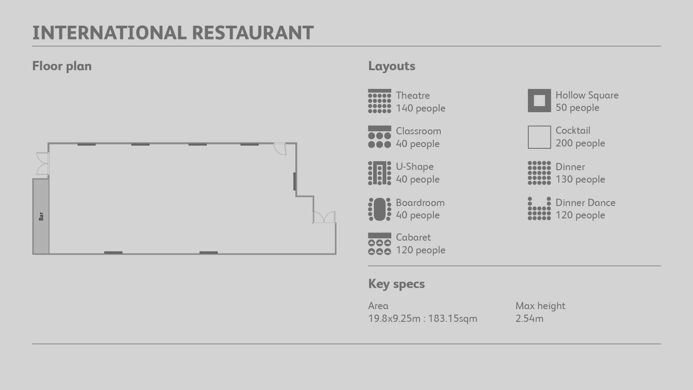 The International Suite at Molineux floor plan