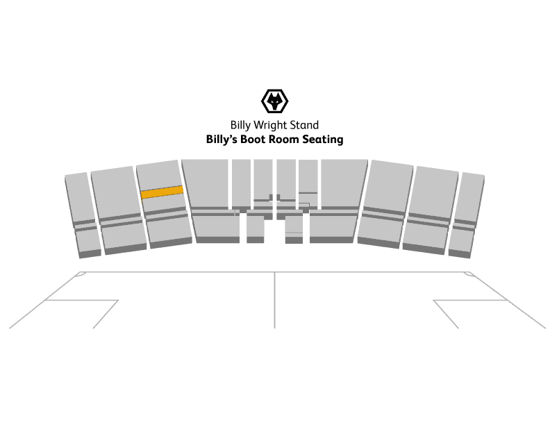 Image of seat placement for Billy Wright hospitality tickets at Molineux