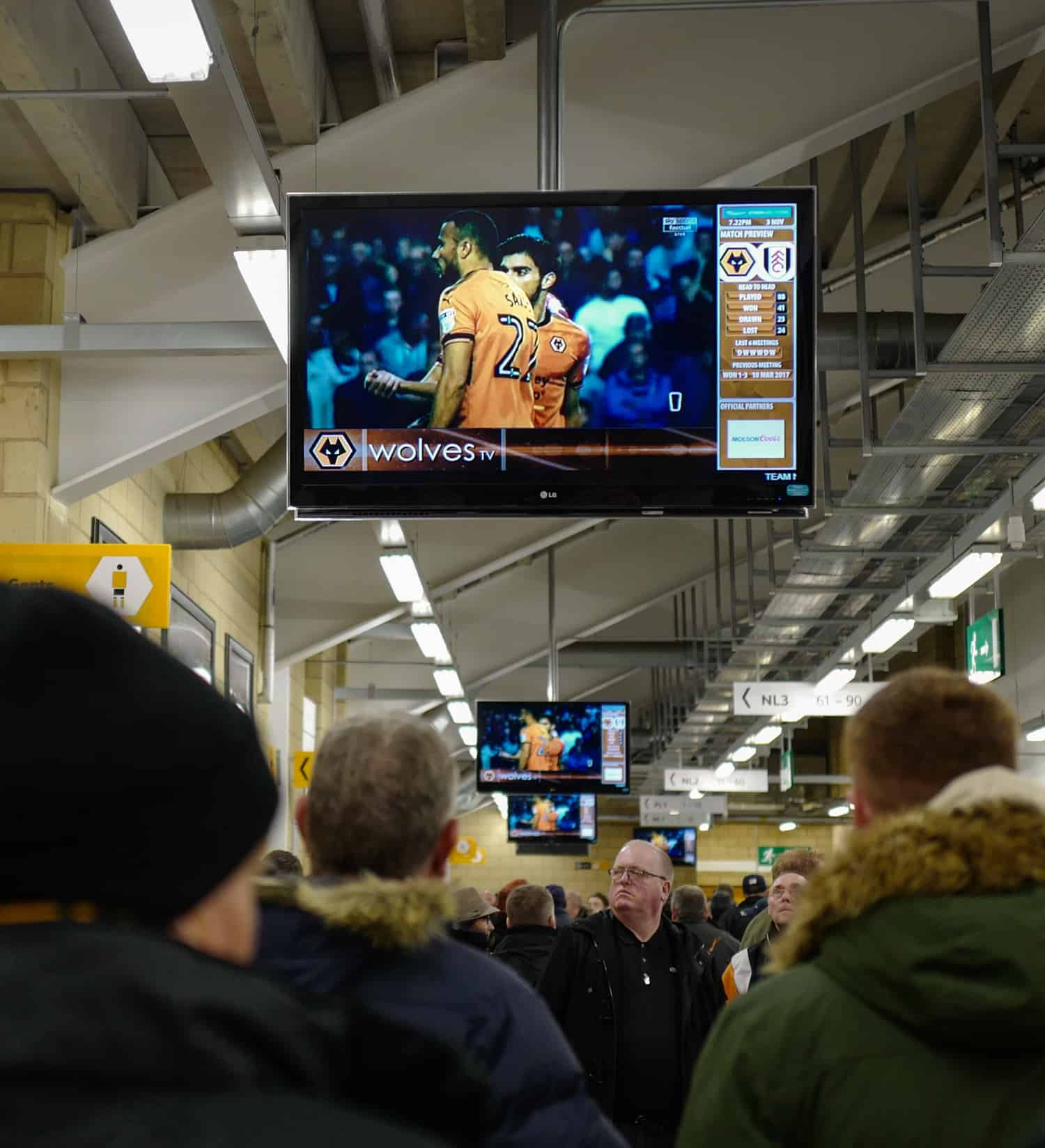 Concourse TV advertising at Molineux