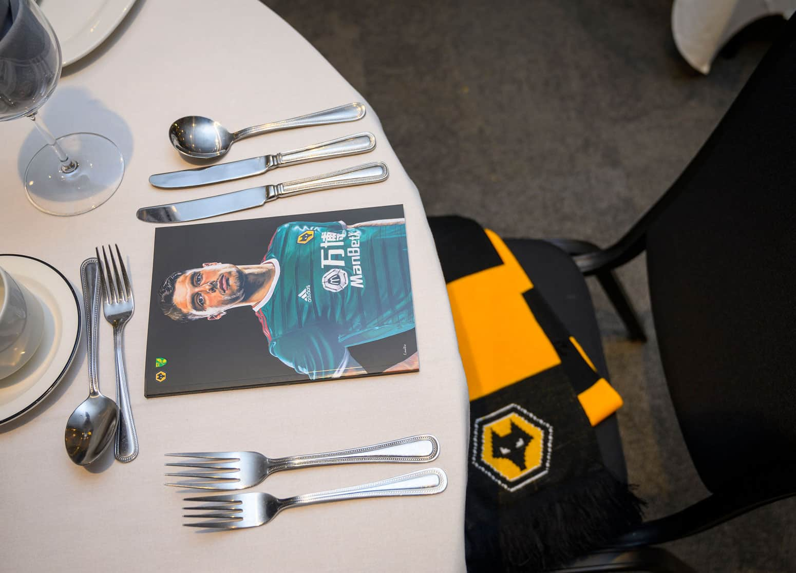 Table layout at the International Restaurant at Molineux