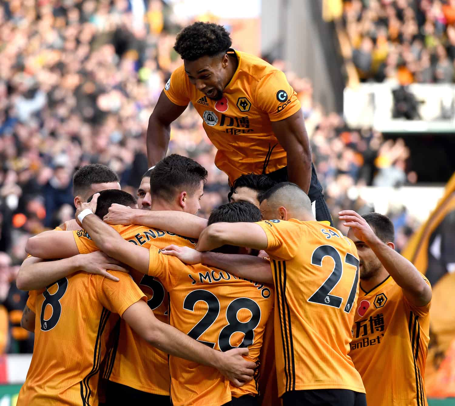 Wolves team at Molineux