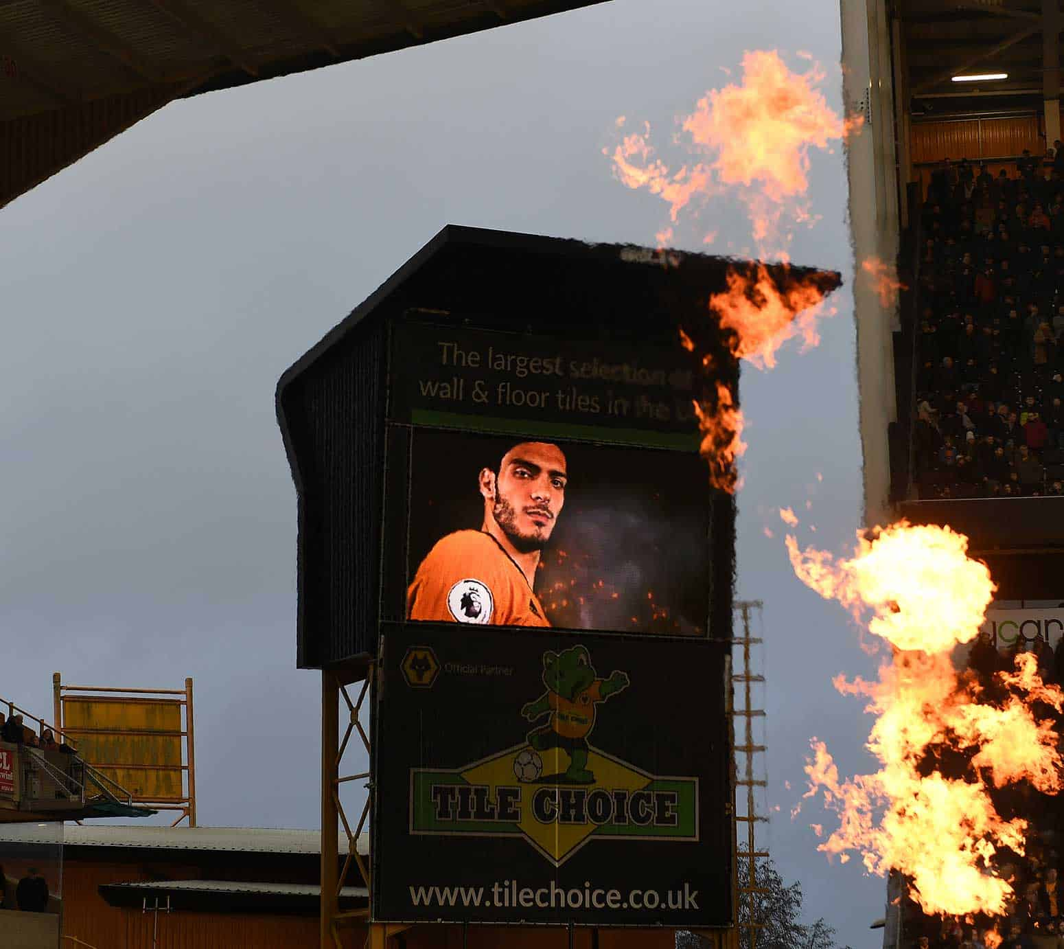 Image of LED video wall advertising at Molineux