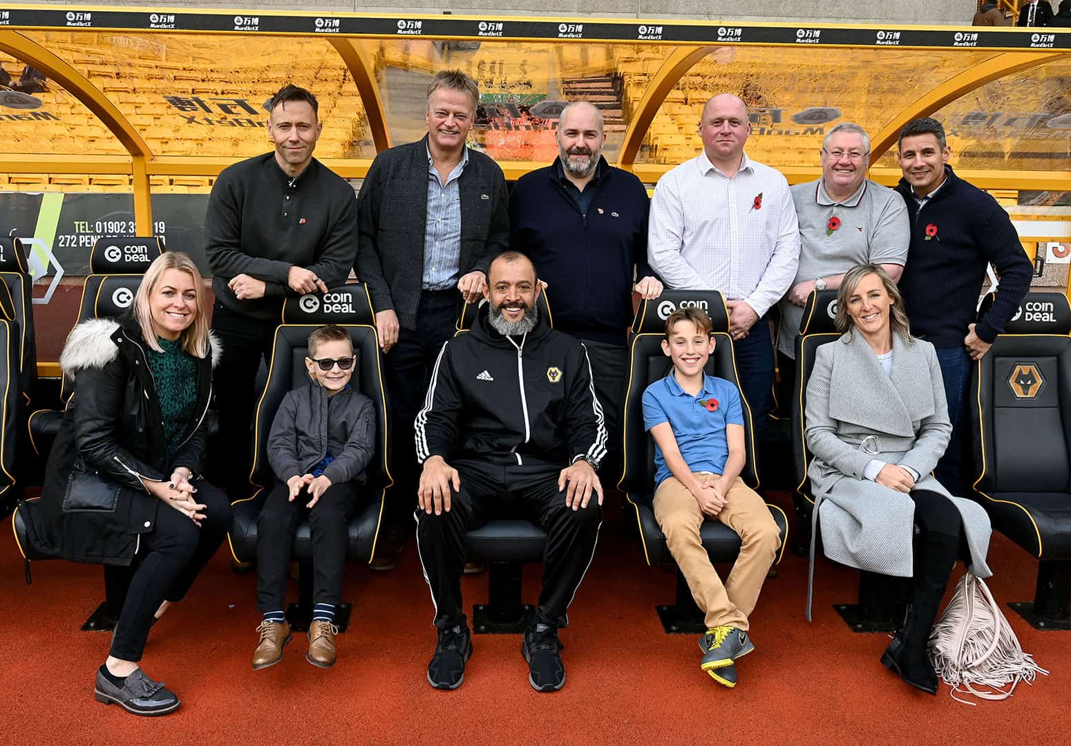 Head Coach sponsor at Molineux with Nuno Espirito Santo