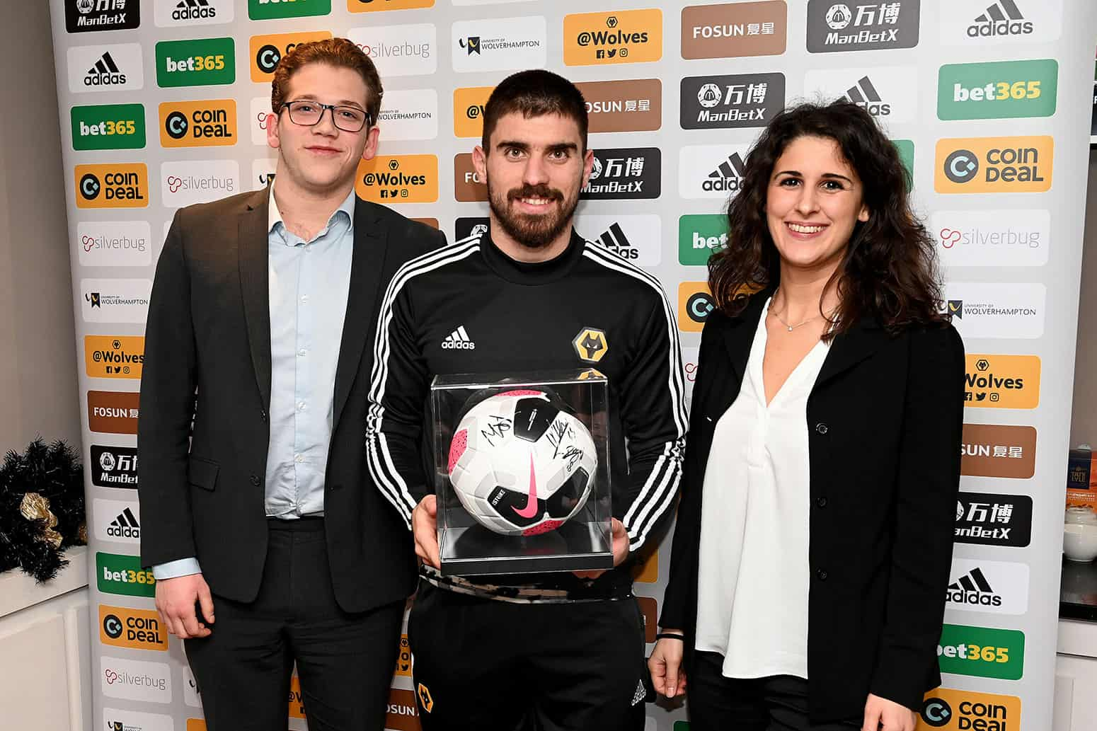 Matchball sponsor at Molineux with Ruben Neves